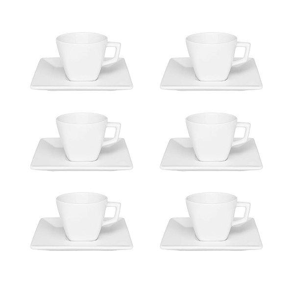 Jogo de Xícaras de Chá 12 Peças - Quartier White - Oxford