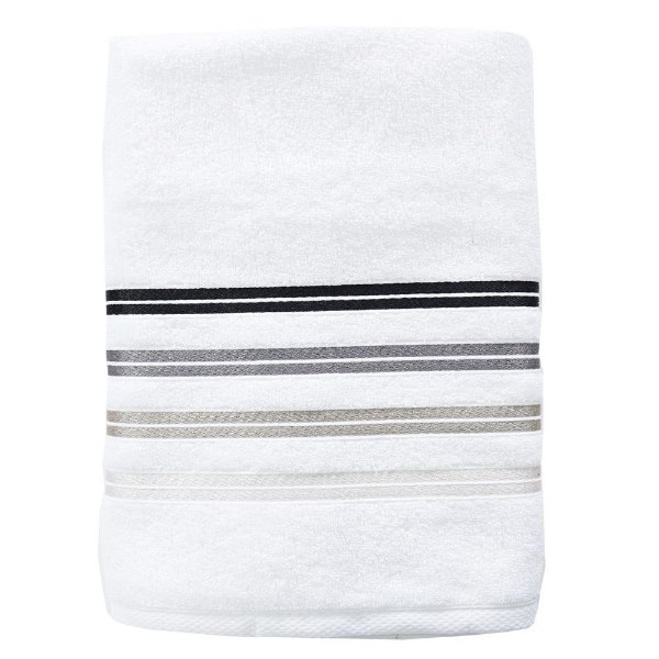 Toalha de Banho Total Mix Dakar - Branco/Preto/Cinza - Artex