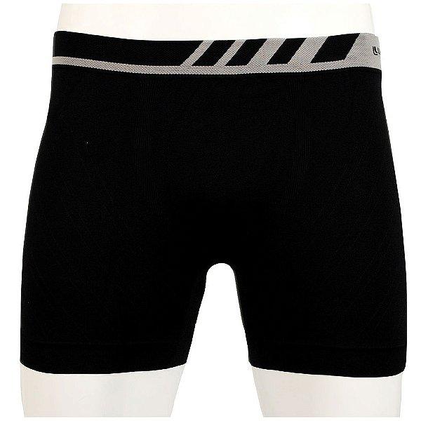 Cueca Boxer Sem Costura Microfibra - Preta - Lupo
