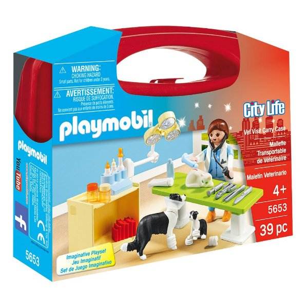 Maleta Veterinária - 39 Peças - Playmobil