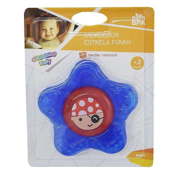 Mordedor Estrela Funny - Azul - Girotondo Baby