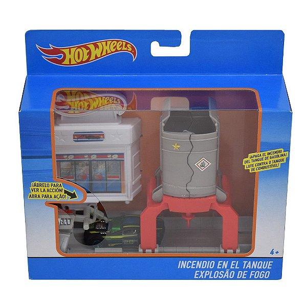 Hot Wheels - Explosão de Fogo - Carro Verde - Mattel