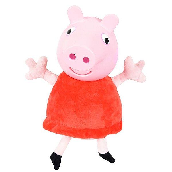 Pelúcia Peppa Pig com Cabeça em Vinil - 38cm - Estrela