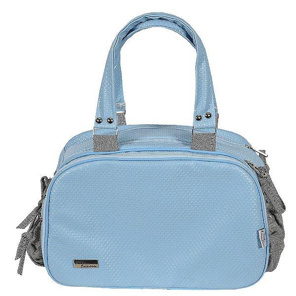 Bolsa para Maternidade Classic Palha Azul - Sonho Encantado