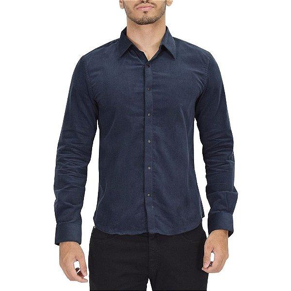 Camisa em Camurça Marinho - Ellus