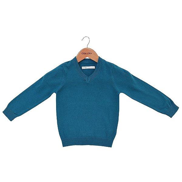 Suéter Infantil em Tricô Azul - Malwee