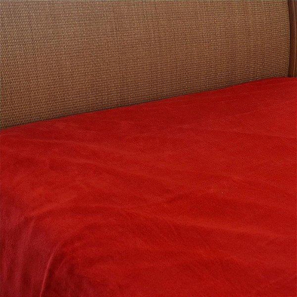 Cobertor Microfibra Solteiro Vermelho - Parahyba
