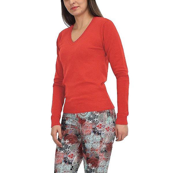 Suéter Feminino em Tricô - Vermelho - Malwee