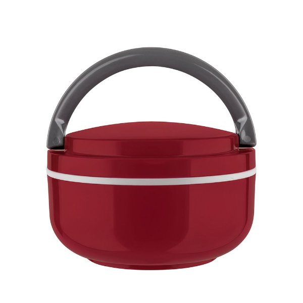 Marmita Lunch Box Microondas - Vermelha - Euro Design