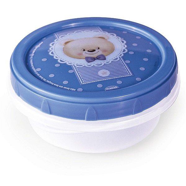 Pote Rosqueável Ursinho - Azul - Plasútil