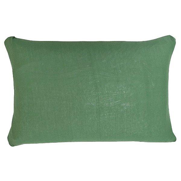 Capa Para Travesseiro Com Zíper - Verde Eucalipto - SulBrasil