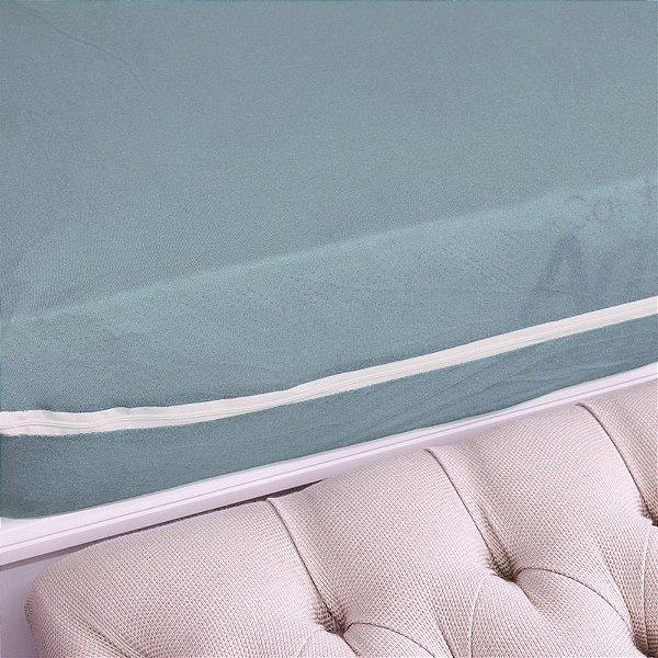 Capa Para Colchão Em Malha Solteiro - Azul Claro - Sulbrasil