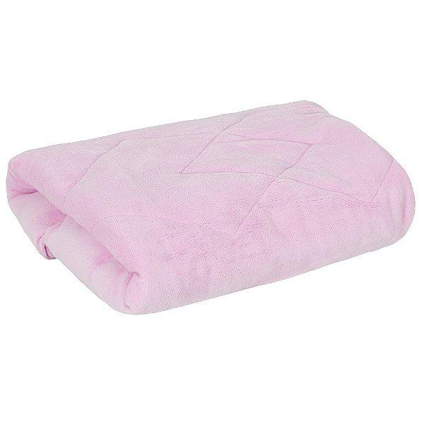 Edredom em Plush Para Berço - Rosa Bebê - Hedrons