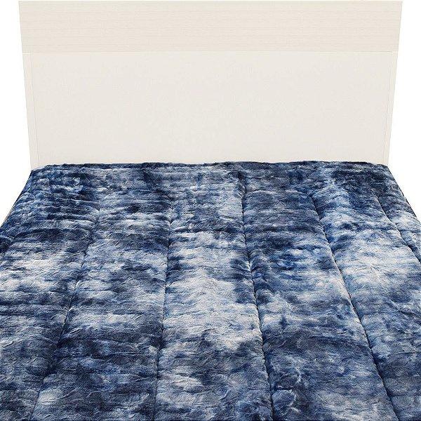 Edredom Dupla Face Peles Casal - Tye Dye Azul - Hedrons