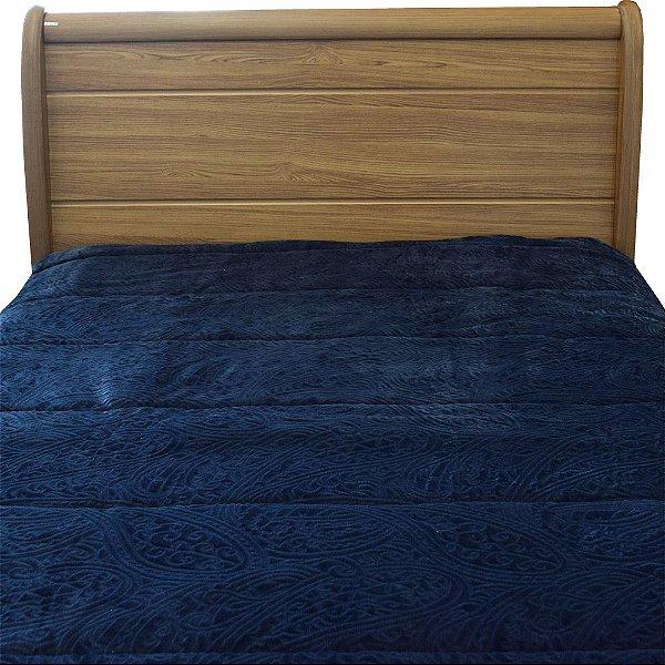 Edredom Dupla Face Duo Blanket Queen - Azul Marinho - Kacyumara
