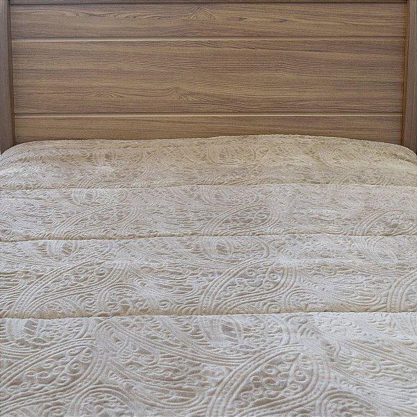Edredom Dupla Face Duo Blanket Casal - Marrom Claro - Kacyumara