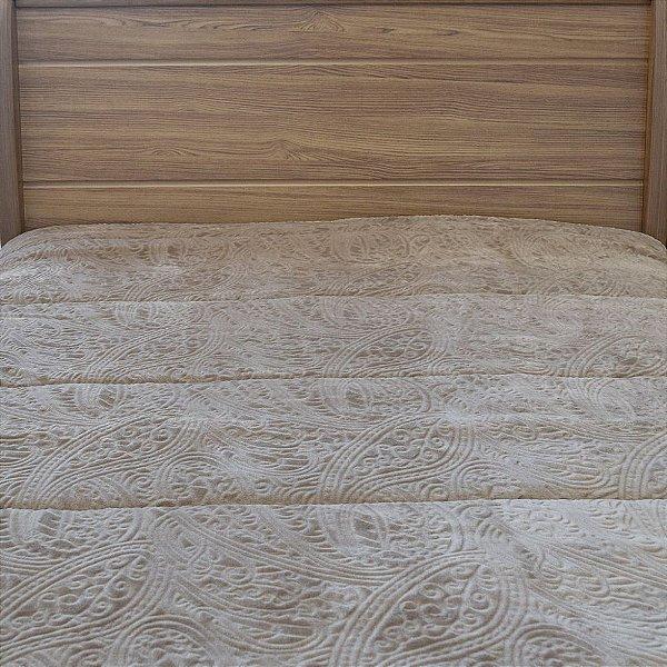 Edredom Dupla Face Duo Blanket Queen - Marrom Claro - Kacyumara