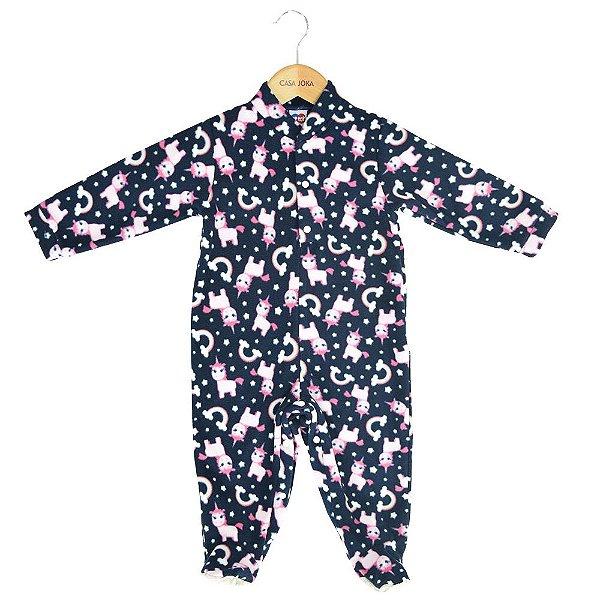 Macacão Pijama Infantil - Unicórnios - Tip Top