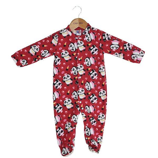 Macacão Pijama Infantil Manga Longa - Pandas - Tip Top