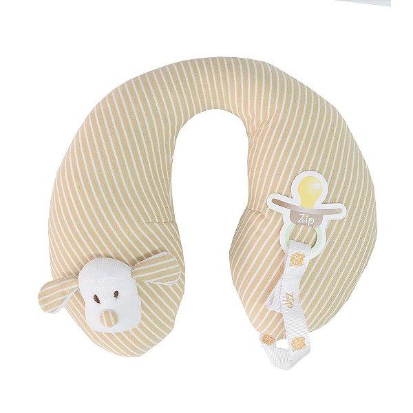 Protetor de Pescoço - Cachorrinho Bege Listrado - Zip Toys