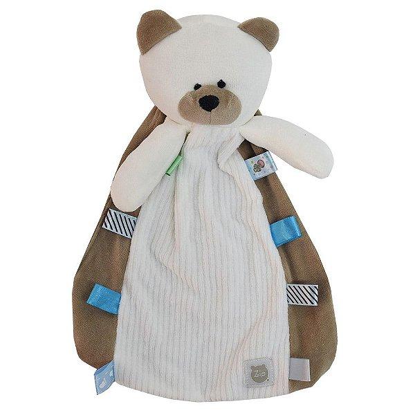 Naninha Com Carinha Forkids - Ursinho Branco - Zip Toys