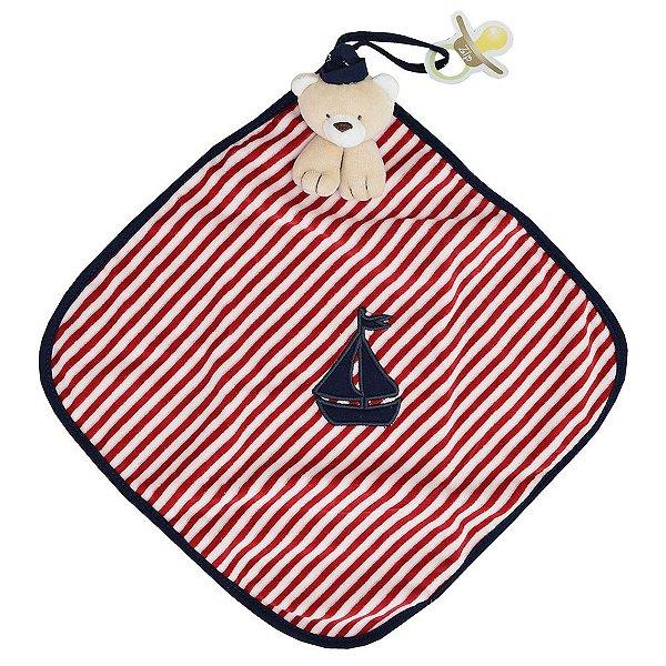Toalha de Boca Blanket Cetim - Marinheiro Listrado - Zip Toys