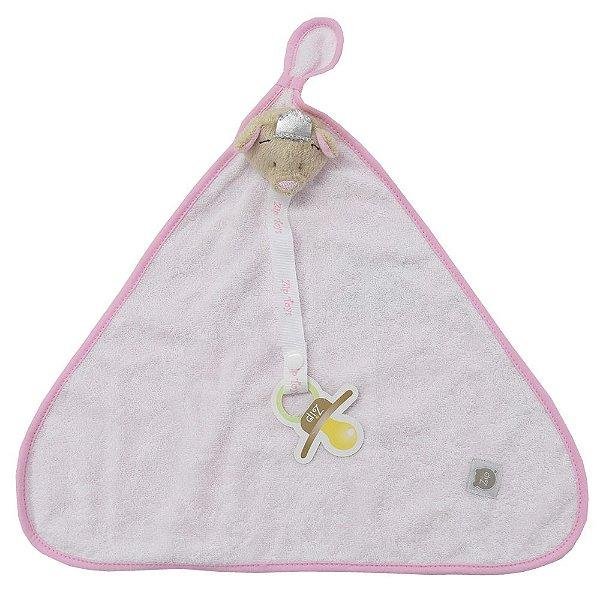Pano de Boca Atoalhado - Princesa Rosa - Zip Toys