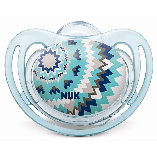 Chupeta Freestyle Étnica Azul - Fase 2 - Nuk