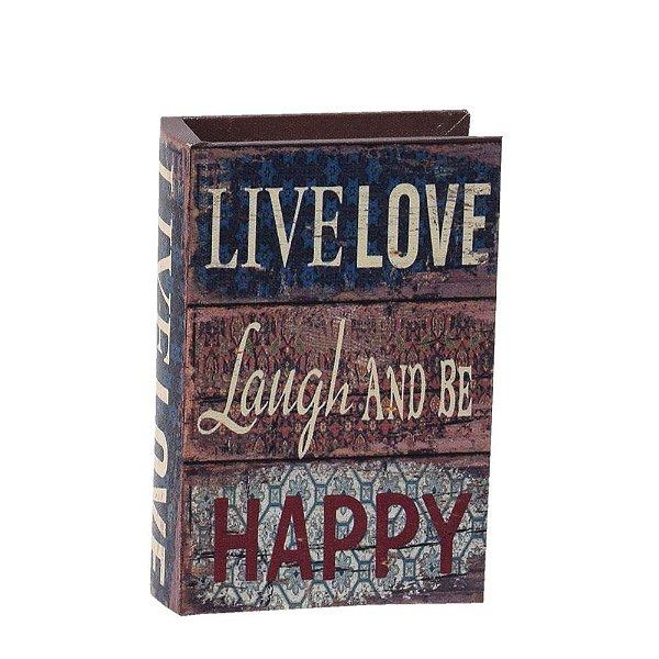 Livro Caixa Decorativa Pequena - Live Love - Mart