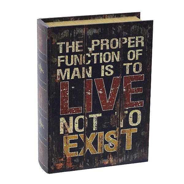 Livro Caixa Decorativa Média - Live Not To Exist - Mart