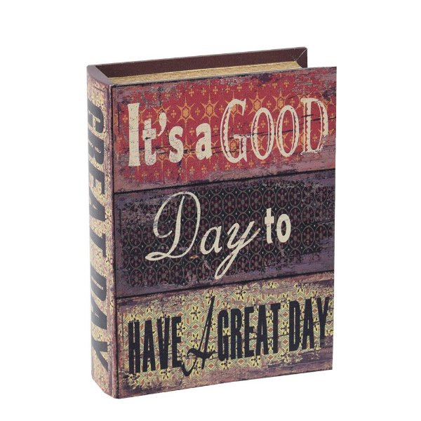 Livro Caixa Decorativa Média - It's a Good Day - Mart