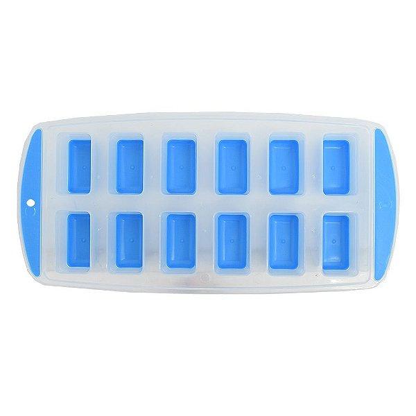 Forma Para Gelo 12 Cubos - Azul - Wincy