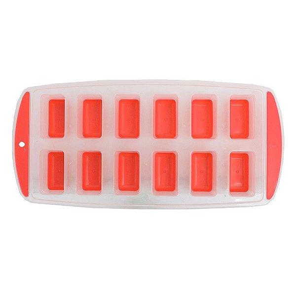 Forma Para Gelo 12 Cubos - Vermelha - Wincy