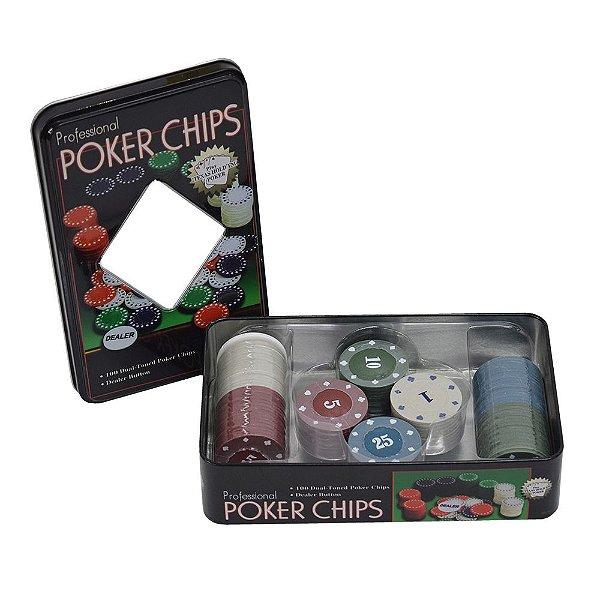 Conjunto de Fichas Para Pôquer - 101 Fichas - Wincy