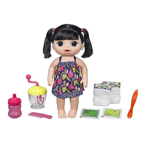 Baby Alive Papinha Divertida - Cabelo Preto - Hasbro