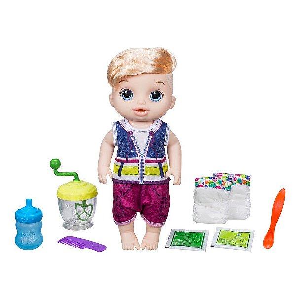 Baby Alive Papinha Divertida - Menino Loiro - Hasbro