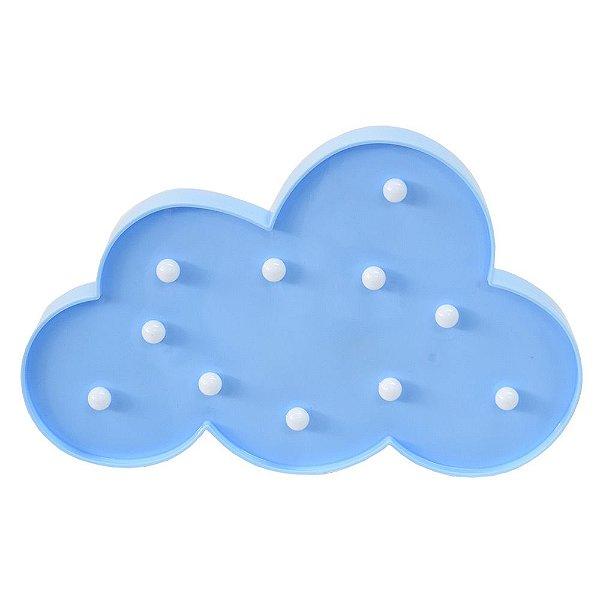Luminária de Nuvem Com Leds - Azul - Wincy