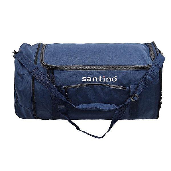 Sacola de Viagem Dobrável Com Rodas Lisboa - Azul - Santino
