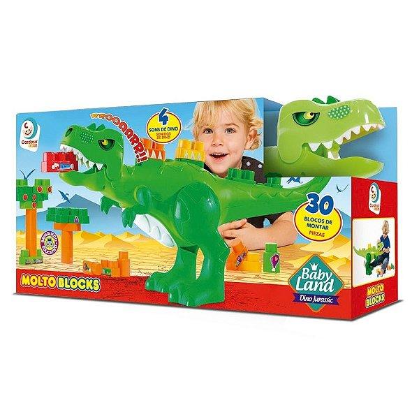 Molto Blocks Dino Jurássico - 30 Blocos - Cardoso