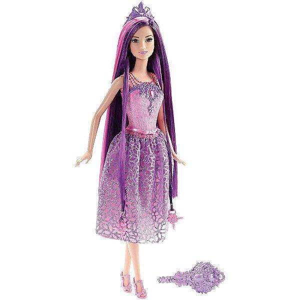 Barbie Reino dos Penteados Mágicos - Princesa Roxa - Mattel