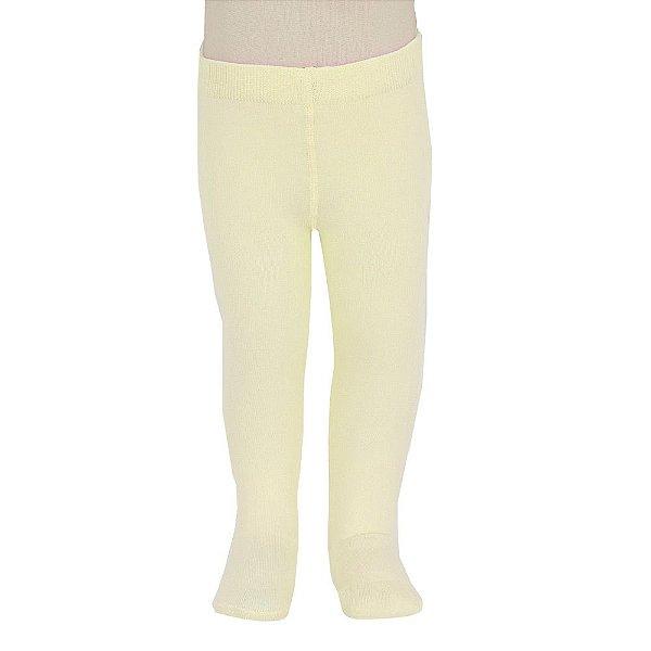 Meia Calça Cotton Lobinha - Amarelo Claro - Lupo