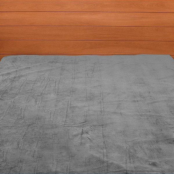 Cobertor Microfibra Casal - Cinza - Parahyba