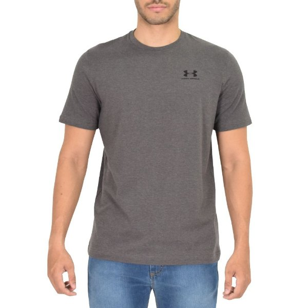 Camiseta Masculina Left Chest Cinza - Under Armour