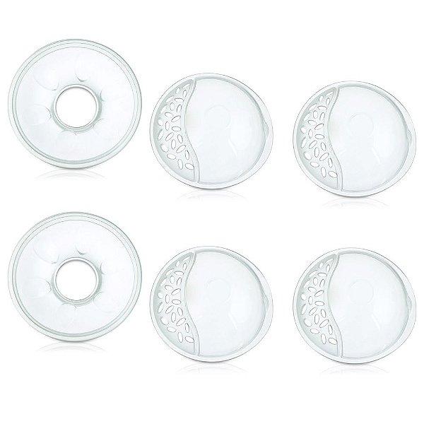 Conchas Protetoras Para Amamentação - 6 Peças - Multikids