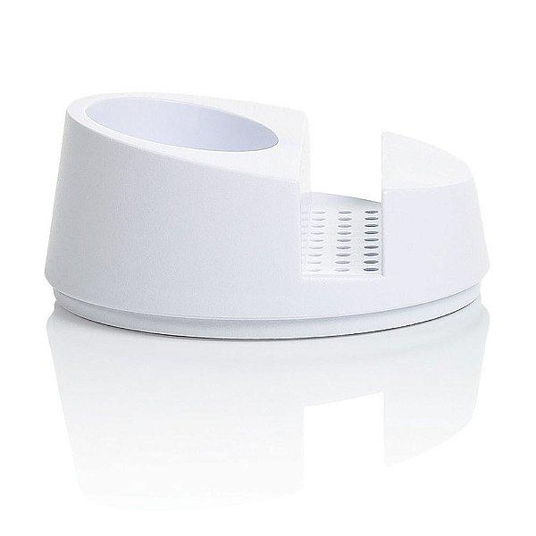 Porta Detergente e Esponja - Branco - Ou