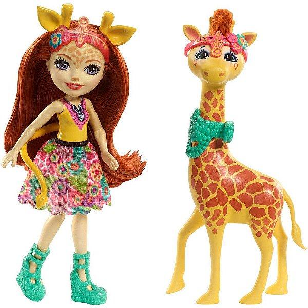 Enchantimals Conjunto - Gillian Giraffe e Pawl - Mattel