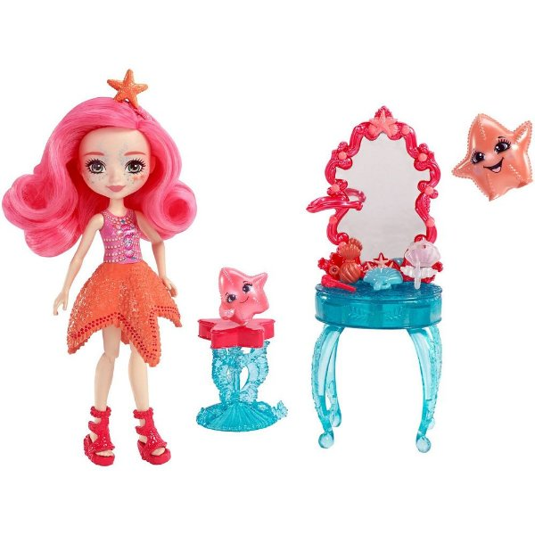 Enchantimals Praia - Starling Starfish e Idyl & Rypple - Mattel