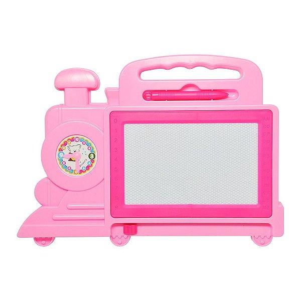 Quadro Mágico Locomotiva - Rosa - Dm Toys