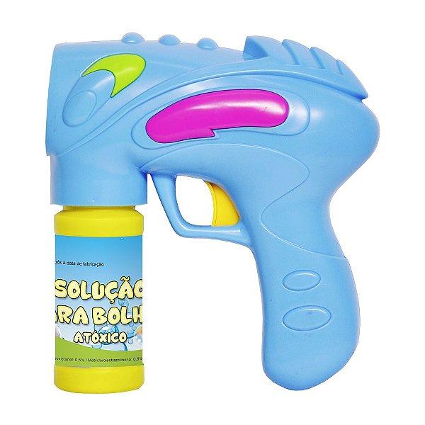 Lançador Mania de Bolha - Azul - Dm Toys