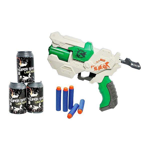 Lançador Super Shot Supreme Com Alvos - Dm Toys